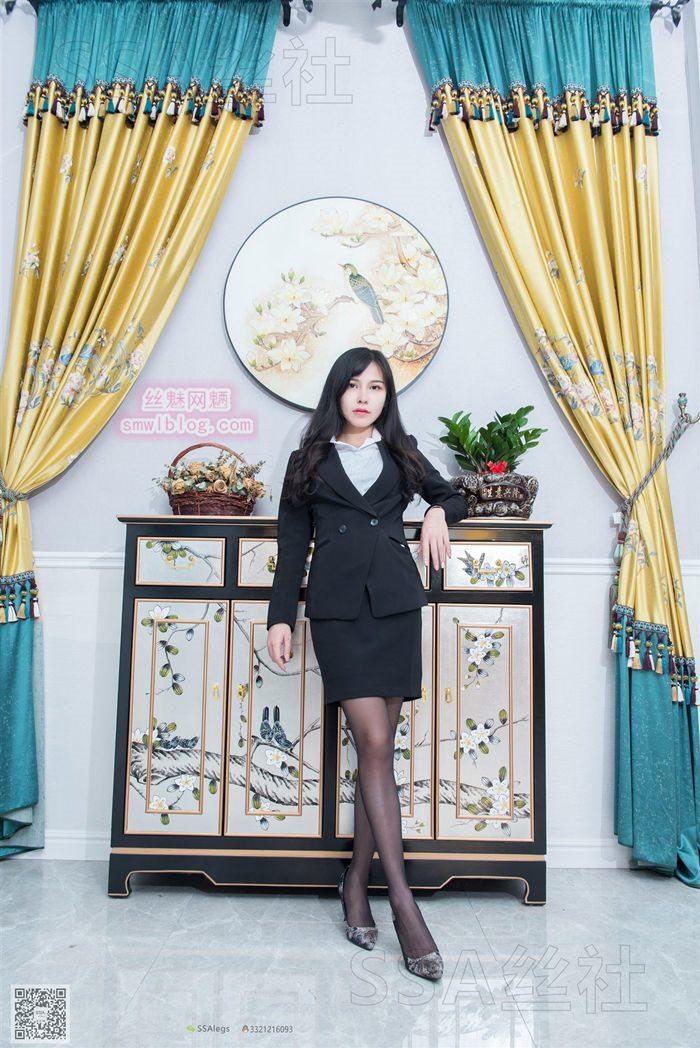 [SSA丝社] NO.070 雪梨 窗帘店的黑丝小姐姐脱丝[99P/167M]